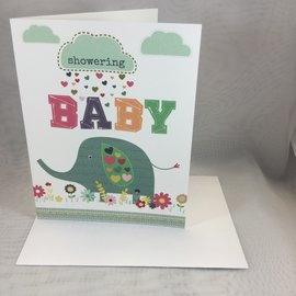 New Baby Shower Card Elephant