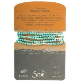 SCOUT CURATED WEARS STONE WRAP SKY SILVER turquoise