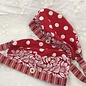 KAMALA DESIGNS NURSE SCRUB CAP - RED POLKA DOTS