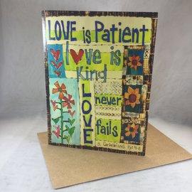 Wedding Card Love is Patient