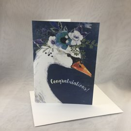 Wedding Card Bride-To-Be Swan