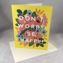 Encouragement Card Don't Worry Be Happy (blank)