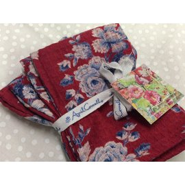 WILLA ROSE TINY TOWEL/NAPKIN SET 4