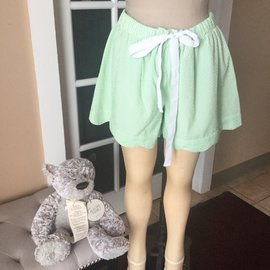 Scalloped Lounge Shorts GREEN XL