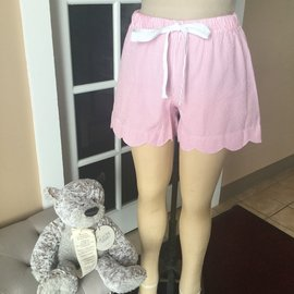Scalloped Lounge Shorts PINK SMALL