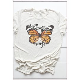 LET YOUR DREAMS BUTTERFLY TEE