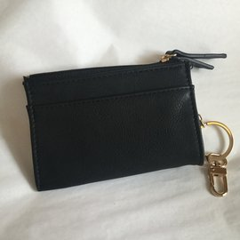 CARD HOLDER WITH KEY RING BLACK