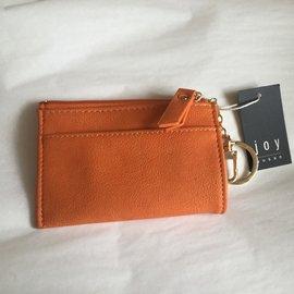 CARD HOLDER WITH KEY RING ORANGE