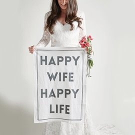HAPPY WIFE HAPPY LIFE DISH TOWEL