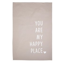 YOU ARE MY HAPPY PLACE DISH TOWEL