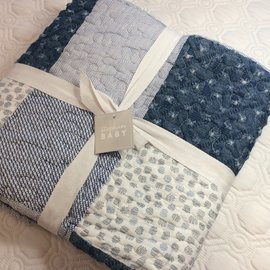 DENIM BLUE BABY QUILT