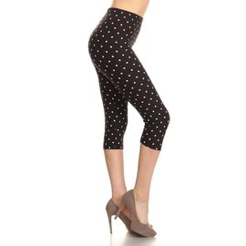GOTTA HAVE THE DOTS CAPRI LEGGINGS - FREE SIZE