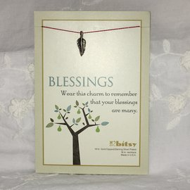 Blessings Charm on a String Necklace