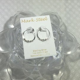 Small Hoop Beads MARK STEEL EARRINGS