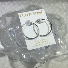 Medium Hoop MARK STEEL EARRINGS