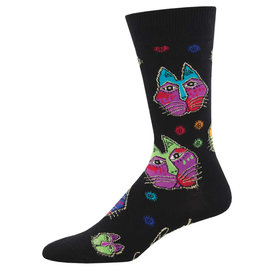LAUREL BURCH CATS MENS SOCKS