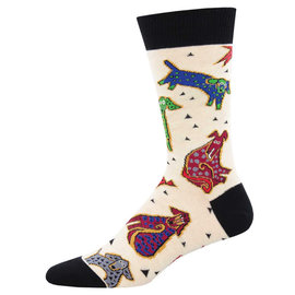 LAUREL BURCH DOGGY DOGS MEN SOCKS
