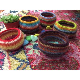 HAND MADE FELTED BOWL - # 11