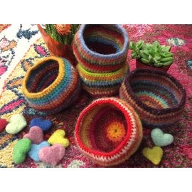 HAND MADE FELTED BOWL - # 12