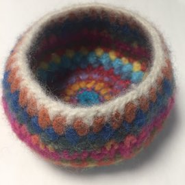HAND MADE FELTED BOWL - # 13