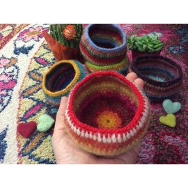 WOOLY  FELTED BOWL- # 3