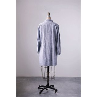 SALE- SLATE DOBBY TUCKED TUNIC