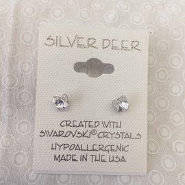 SMALL CLEAR CRYSTAL BUTTERFLY EARRINGS