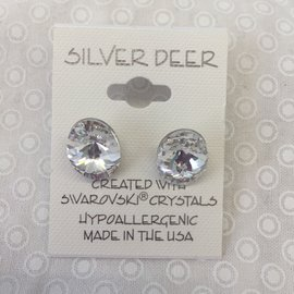 LARGE CRYSTAL OVAL EARRINGS