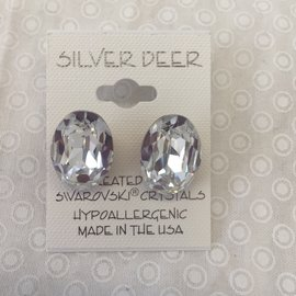 CRYSTAL OVAL EARRINGS