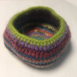 WOOL FELTED BOWL- # 7