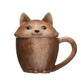 FOX MUG WITH LID