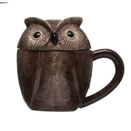 OWL MUG WITH LID