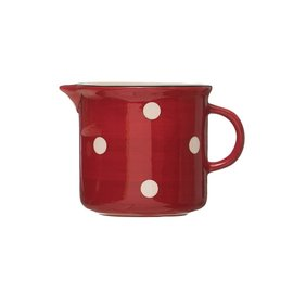RED POLKA DOT PITCHER