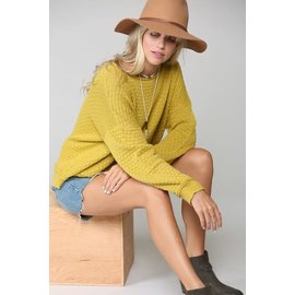 MOSSY GOLD TEXTURED SWEATER