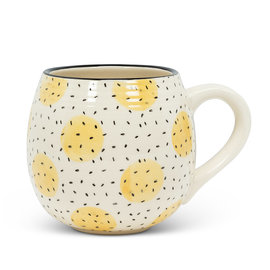 YELLOW CIRCLES  BALL MUG