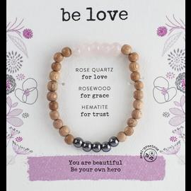 Be Love Bracelet Rose Quartz