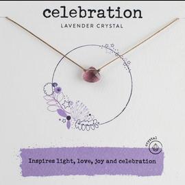 Crystal Celebration Necklace Lavender