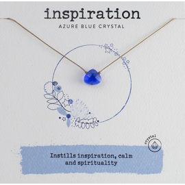 Crystal Inspiration Necklace Azure Blue