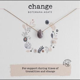 SOULKU BOTSWANA AGATE NECKLACE CHANGE