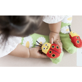 messy moose Lady Bug Socks 0-48 Months