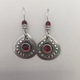 Persian Eyes Burgundy Earrings