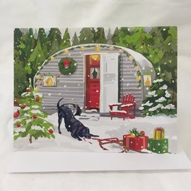 HOLIDAY CARD SNOWY CAMPER