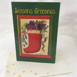 HOLIDAY CARD STOCKING FILLED