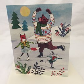 HOLIDAY CARD HOLIDAY SKATERS