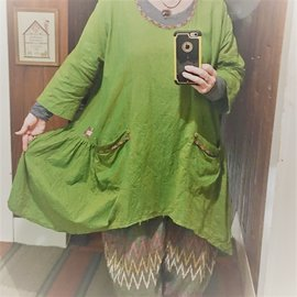 KAMALA DESIGNS LILY TUNIC IN OLIVE GOLD