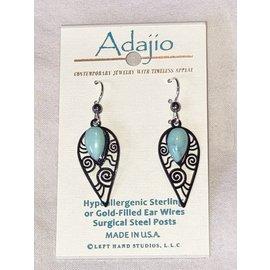 Adajio Earrings Hematite Howlite