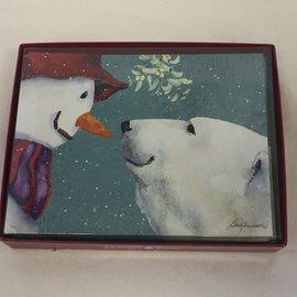 HOLIDAY Card Snowman Polar Bear Boxed Set/12