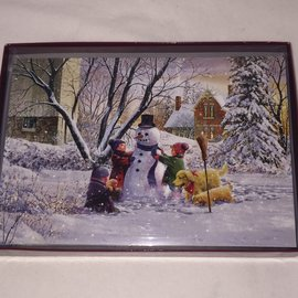 HOLIDAY Cards Snowman Children BOXED SET/10