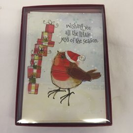 HOLIDAY Cards Birdie Gifts BOXED SET/10