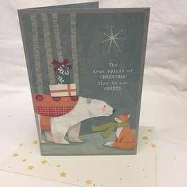 HOLIDAY CARD Polar Bear and Fox
